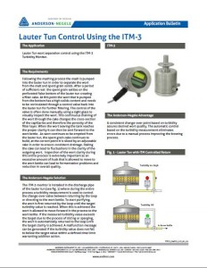 Lauter Tun Control using the ITM-3
