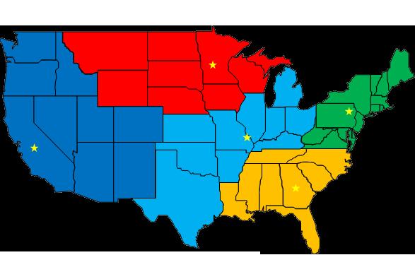 Field Service Regions