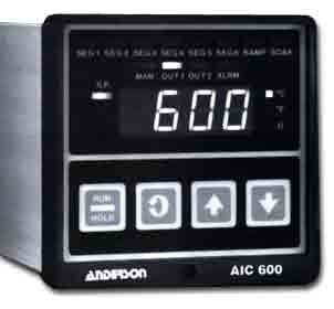 600 Micro-based 1/4 DIN Controller with Programmable Setpoint Profiles - Instrumentation and Controls - Img 1 - Anderson-Negele