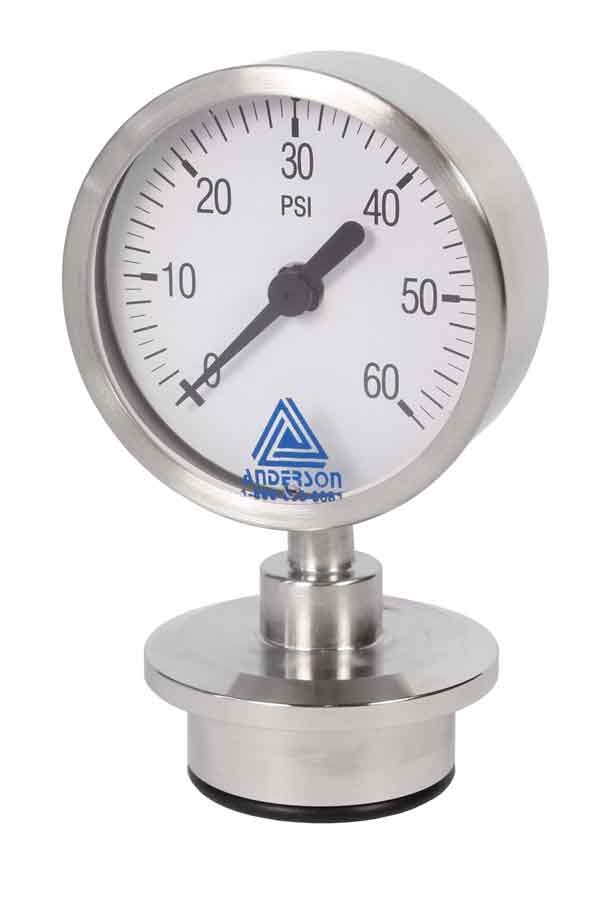 EK Life Sciences Series Pressure Gauge (63mm) - Array - Img 1 - Anderson-Negele