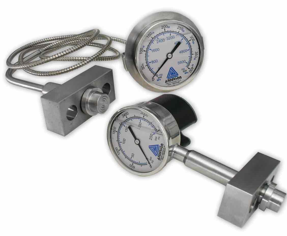 ELH Medidor de Alta Presión Sanitariode 90mm - Sensores de Presión - Img 1 - Anderson-Negele