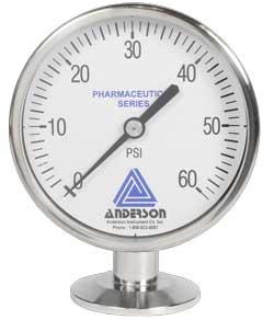 EM Life Sciences Series Pressure Gauge (90mm) - Pressure Transmitters & Sensors - Img 1 - Anderson-Negele