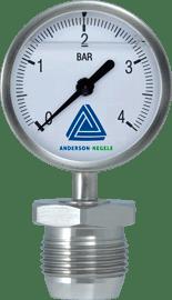 MAN-63 Pressure gauge with 63 mm display - Pressure Sensors - Img 1 - Anderson-Negele