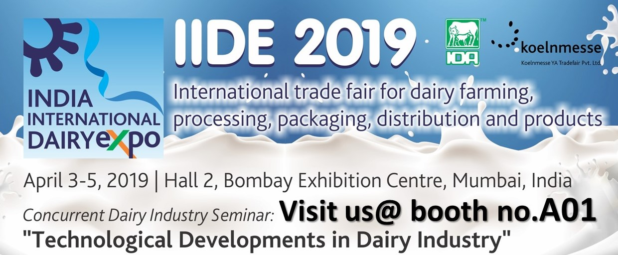 India International Dairy Expo 2019 (IIDE) | Anderson-Negele